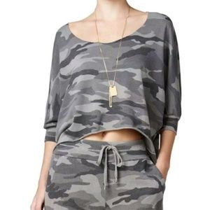 Chelsea sky camo cropped top
